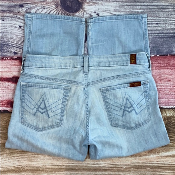 7 For All Mankind Denim - 7 For All Mankind Cropped A Pocket Jeans